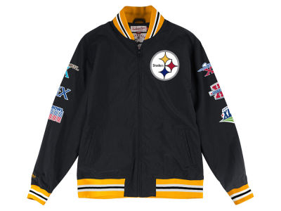 Pittsburgh Steelers Mitchell & Ness NFL Men's Team History Warm Up Jacket