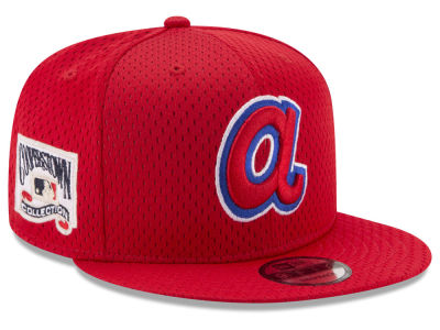 Atlanta Braves New Era MLB Coop Mesh Authentic 9FIFTY Snapback Cap