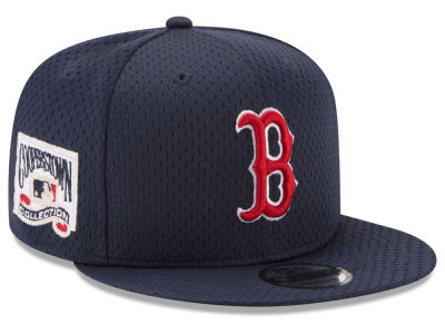 Boston Red Sox New Era MLB Coop Mesh Authentic 9FIFTY Snapback Cap