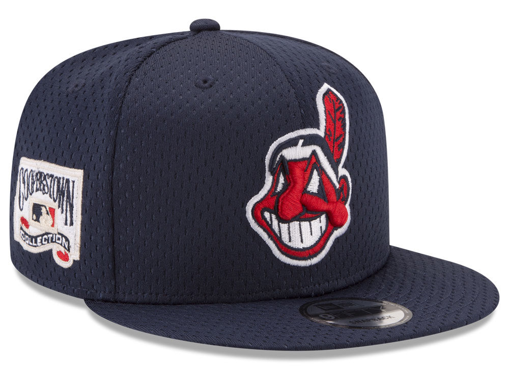 Cleveland Indians New Era MLB Coop Mesh Authentic 9FIFTY Snapback Cap  cc847ac60d3e