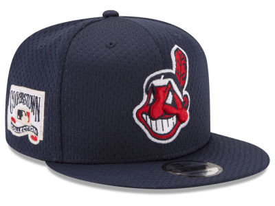 Cleveland Indians New Era MLB Coop Mesh Authentic 9FIFTY Snapback Cap