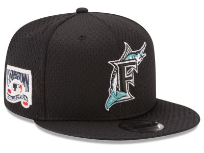 Florida Marlins New Era MLB Coop Mesh Authentic 9FIFTY Snapback Cap