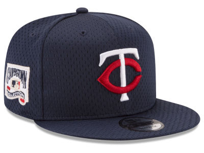 Minnesota Twins New Era MLB Coop Mesh Authentic 9FIFTY Snapback Cap