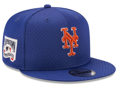 New York Mets New Era MLB Coop Mesh Authentic 9FIFTY Snapback Cap