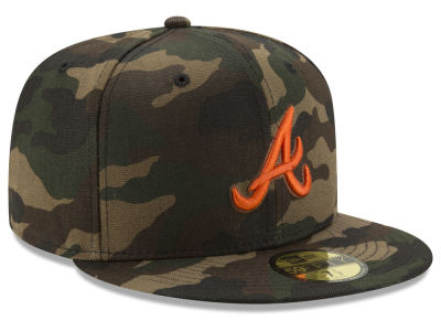 Atlanta Braves New Era MLB Camo On Canvas 59FIFTY Cap
