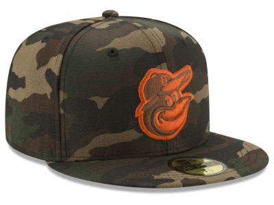 Baltimore Orioles New Era MLB Camo On Canvas 59FIFTY Cap