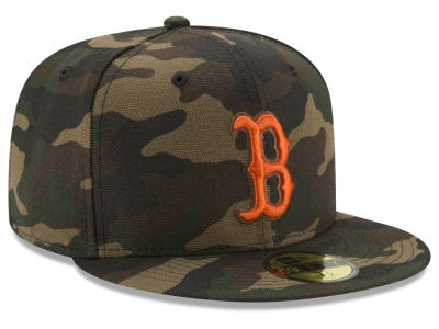 Boston Red Sox New Era MLB Camo On Canvas 59FIFTY Cap
