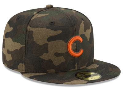 Chicago Cubs New Era MLB Camo On Canvas 59FIFTY Cap