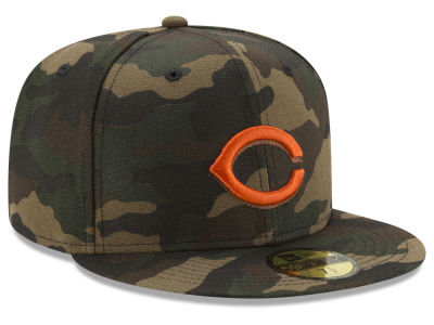 Cincinnati Reds New Era MLB Camo On Canvas 59FIFTY Cap