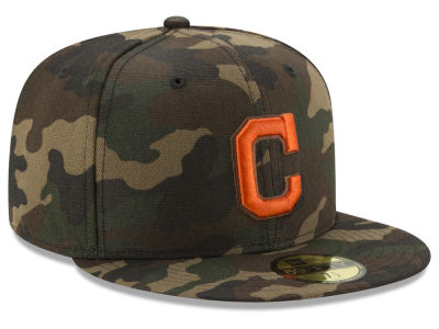 Cleveland Indians New Era MLB Camo On Canvas 59FIFTY Cap