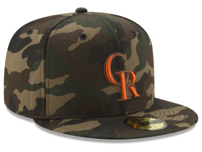Colorado Rockies New Era MLB Camo On Canvas 59FIFTY Cap