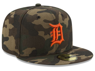 Detroit Tigers New Era MLB Camo On Canvas 59FIFTY Cap