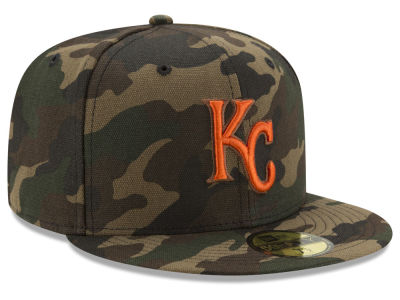 Kansas City Royals New Era MLB Camo On Canvas 59FIFTY Cap