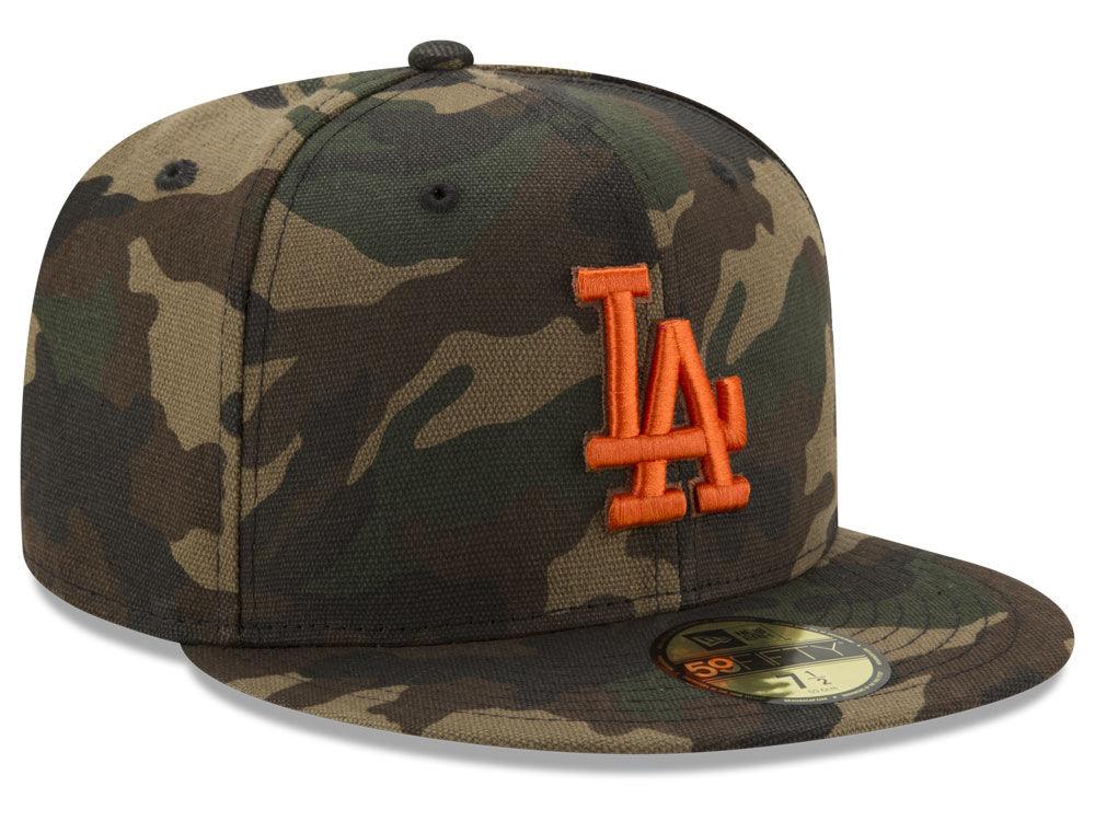 Los Angeles Dodgers New Era MLB Camo On Canvas 59FIFTY Cap  101646d3c7e