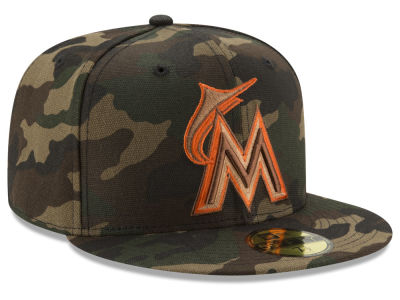 Miami Marlins New Era MLB Camo On Canvas 59FIFTY Cap