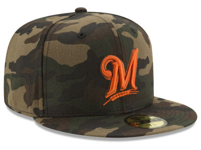 Milwaukee Brewers New Era MLB Camo On Canvas 59FIFTY Cap