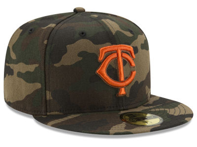 Minnesota Twins New Era MLB Camo On Canvas 59FIFTY Cap