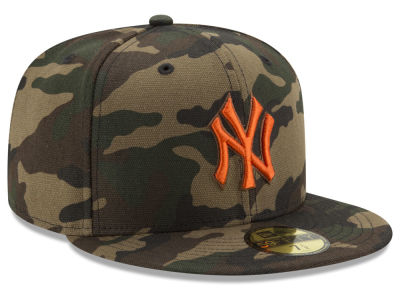 New York Yankees New Era MLB Camo On Canvas 59FIFTY Cap