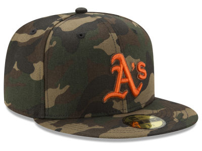 Oakland Athletics New Era MLB Camo On Canvas 59FIFTY Cap