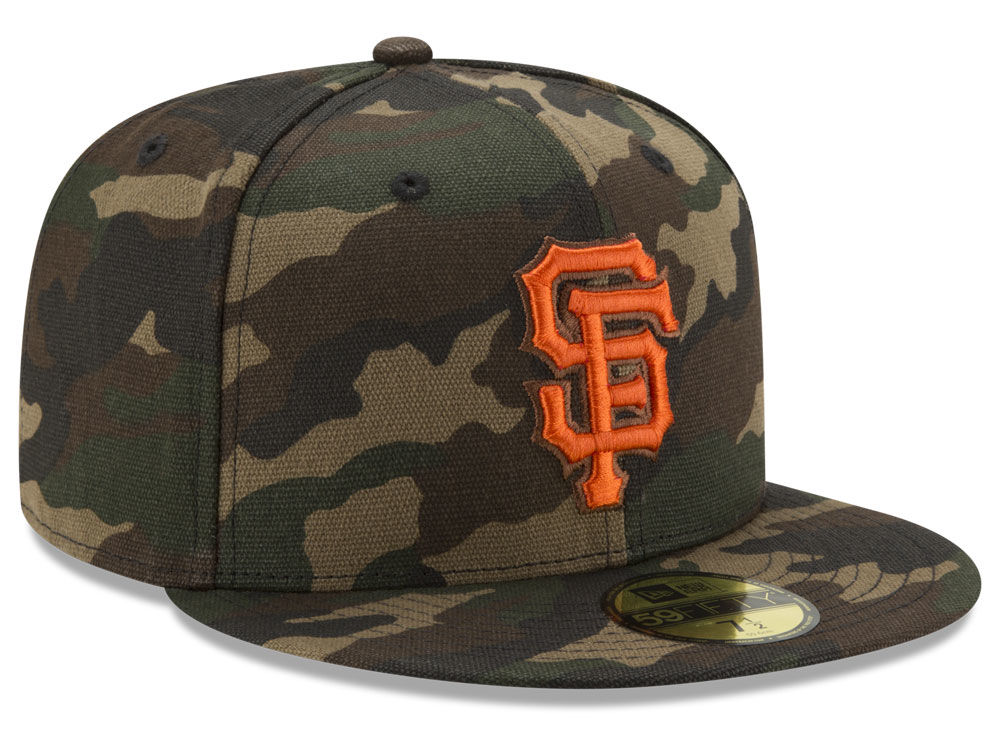 San Francisco Giants New Era MLB Camo On Canvas 59FIFTY Cap  25437dd32e4