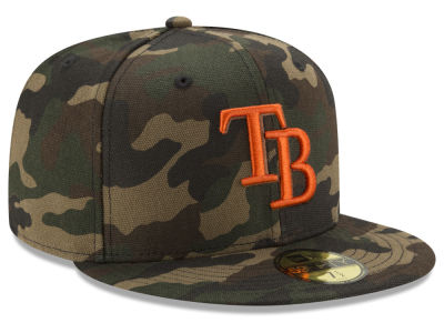Tampa Bay Rays New Era MLB Camo On Canvas 59FIFTY Cap