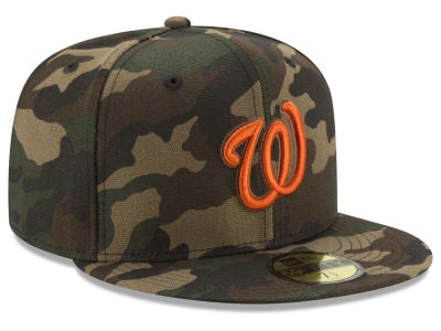 Washington Nationals New Era MLB Camo On Canvas 59FIFTY Cap