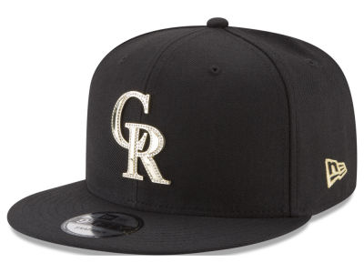 Colorado Rockies New Era MLB Gold and Ice 9FIFTY Snapback Cap
