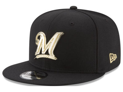Milwaukee Brewers New Era MLB Gold and Ice 9FIFTY Snapback Cap