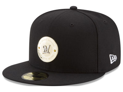 Milwaukee Brewers New Era MLB Inner Gold Circle 59FIFTY Cap