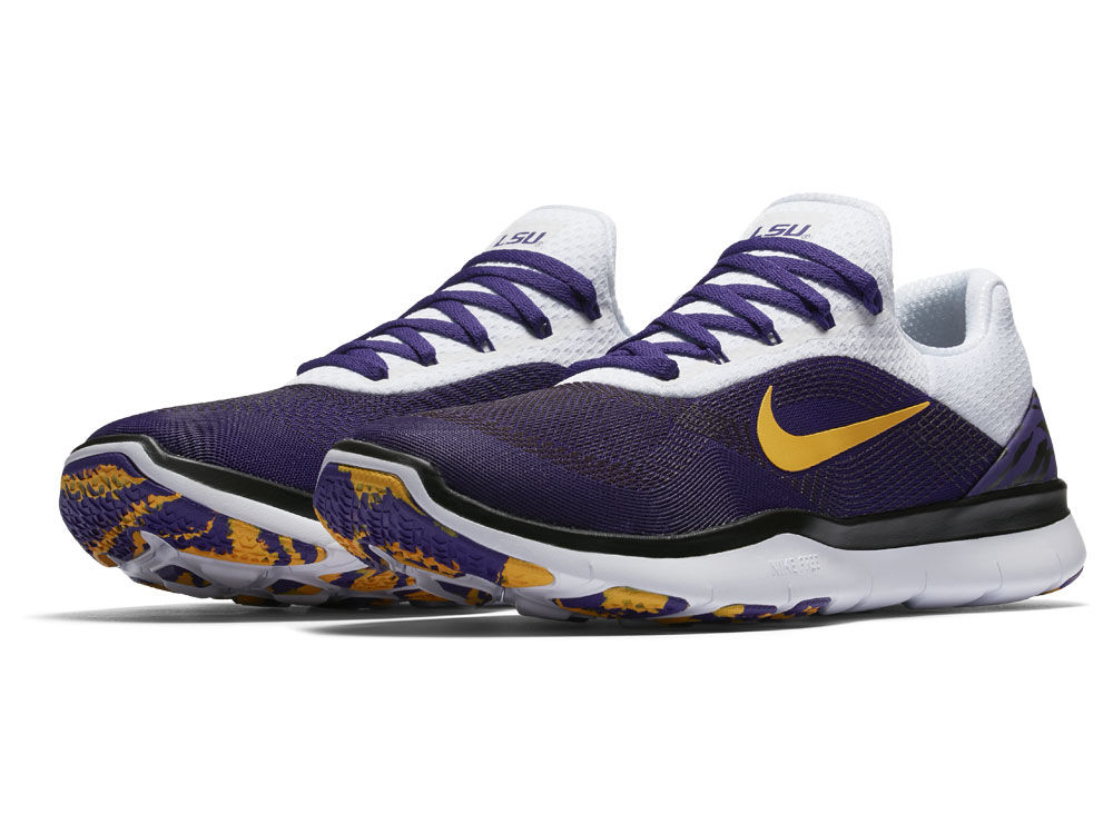 New Men's Nike Purple/Gold LSU Tigers Free Trainer V7 Week Zero Shoes Size 10