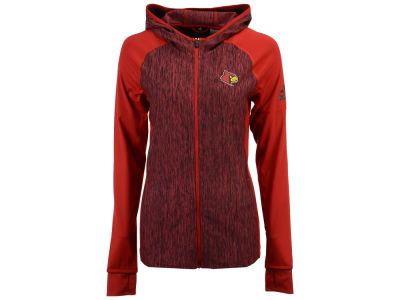 Louisville Cardinals adidas NCAA Women's Vertical Heather Full Zip Hoodie