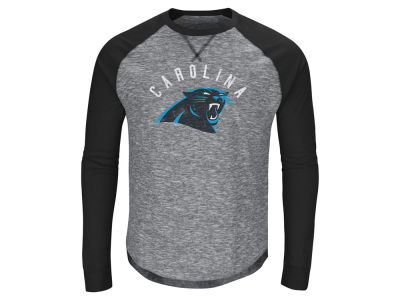 Carolina Panthers Majestic NFL Men's Corner Blitz Raglan Long Sleeve T-Shirt