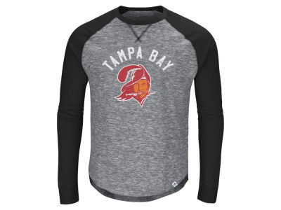 Tampa Bay Buccaneers Majestic NFL Men's Corner Blitz Raglan Long Sleeve T-Shirt