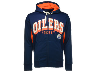 Edmonton Oilers GIII NHL Hands High On-Deck Full Zip Hoodie
