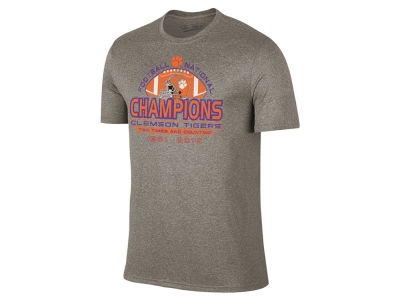 Clemson Tigers Retro Brand NCAA Men's National Champs Helmet Tri-Blend T-Shirt