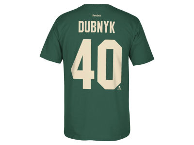 Minnesota Wild Devan Dubnyk Reebok NHL Men's Player T-Shirt