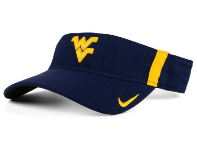West Virginia Mountaineers Nike NCAA Sideline Aero Visor
