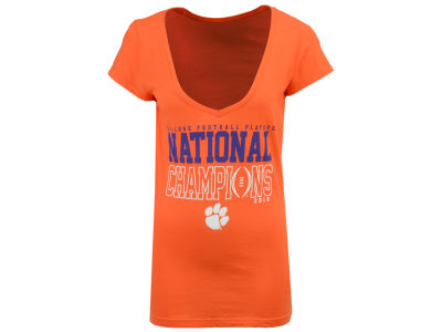 Clemson Tigers NCAA Women's Proud Mascot National Champ T-Shirt