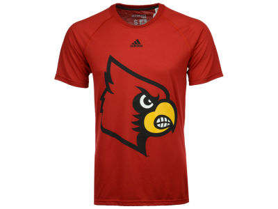 Louisville Cardinals adidas NCAA 2017 Men's Huge Preferred Logo T-Shirt