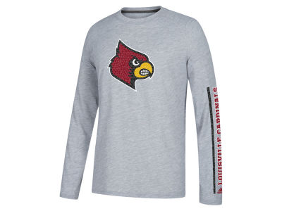 Louisville Cardinals adidas NCAA Men's Sleeve Play Long Sleeve T-Shirt