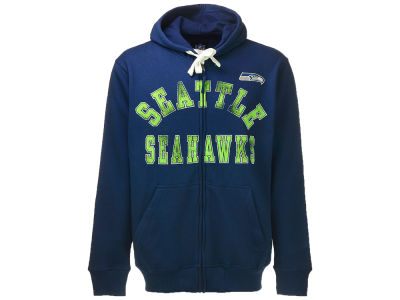 Seattle Seahawks GIII NFL Full Zip Script Hoodie