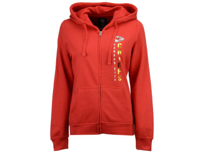 Kansas City Chiefs G-III Sports NFL Women's Wildcat Foil Hooded Sweatshirt