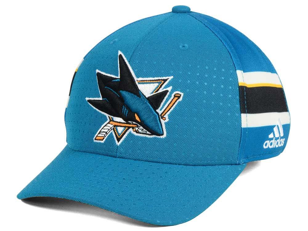 866b18fb2ec San Jose Sharks adidas 2017 NHL Draft Structured Flex Cap