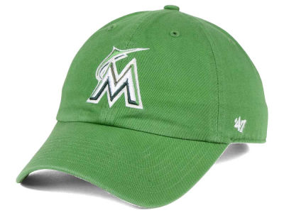 Miami Marlins '47 MLB Fatigue Green '47 CLEAN UP Cap
