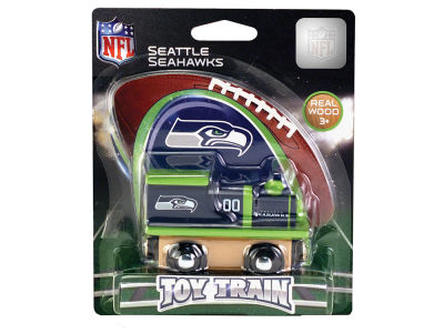 Seattle Seahawks Wood Train Toy
