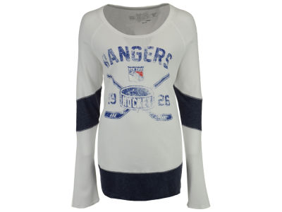 New York Rangers NHL Women's Faceoff Thermal Long Sleeve T-Shirt