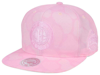 Brooklyn Nets Mitchell & Ness NBA Pastel Camo Snapback Cap