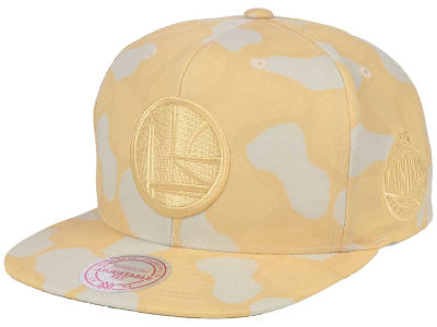 Golden State Warriors Mitchell & Ness NBA Pastel Camo Snapback Cap