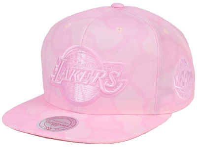Los Angeles Lakers Mitchell & Ness NBA Pastel Camo Snapback Cap