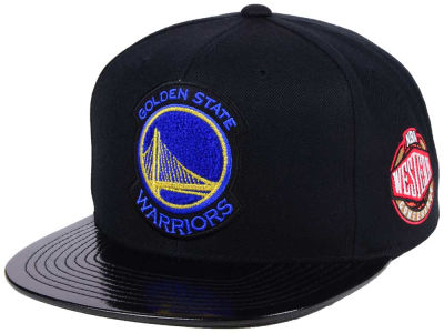 Golden State Warriors Mitchell & Ness NBA Team Patent Snapback Cap